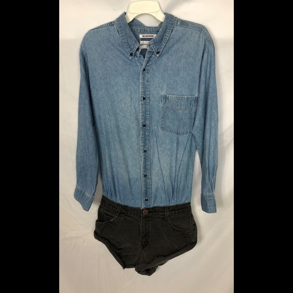 f00787e1c223 One Teaspoon Denim Long Sleeve Romper S. M 5bba90bb951996a0f33a159d